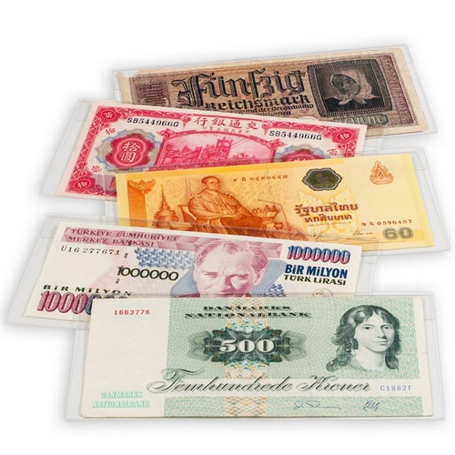 Premium Banknote Sleeves, suit notes up to 160 x 73mm, (pk 10)